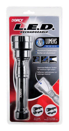 Dorcy 220 lumens Rechargeable Flashlight LED Black