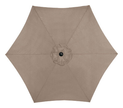 Living Accents 9 ft. Dia. Tiltable Patio Umbrella Tan