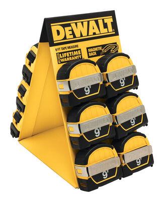DeWalt Metric Tape Measure 1/2 in. W x 9 ft. L