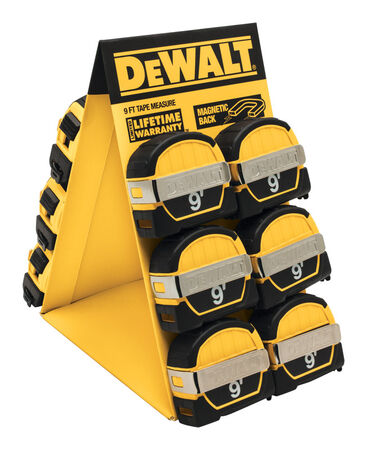 DeWalt Metric Tape Measure 1/2 in. W x 9 ft. L