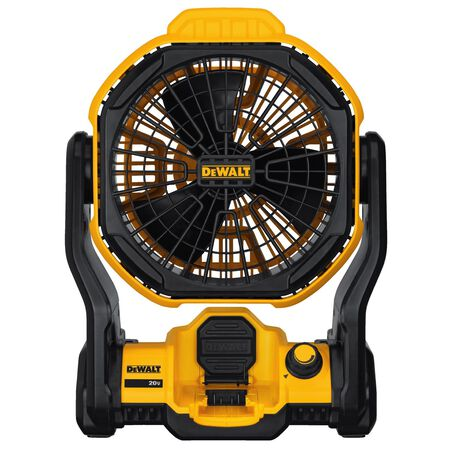 DeWalt Jobsite Fan 11 in. Dia. Variable speed 3 blade Yellow
