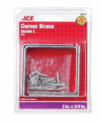 Ace Inside L Corner Brace 3 in. x 3/4 in. Zinc