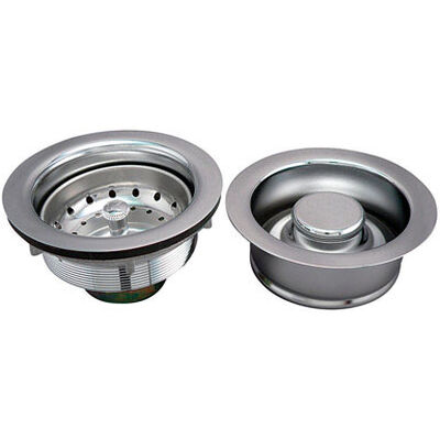 Ace Polished Stainless Steel Strainer Assembly and Disposal Flange Set