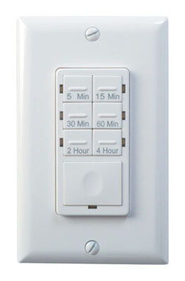 Woods Indoor In Wall Countdown Timer White