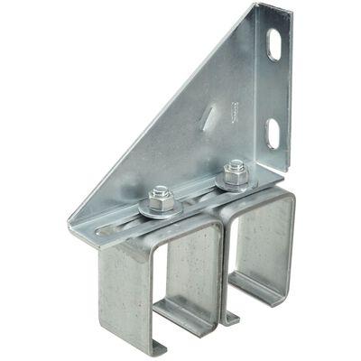 Stanley Steel Double Box Rail Brackets 5-3/4 in. W x 1-3/4 L 1