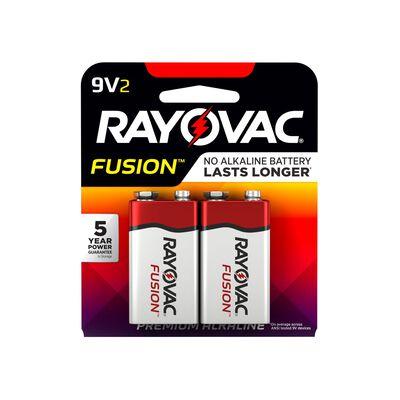 Rayovac Fusion 9V Alkaline Batteries 9 volts 2 pk
