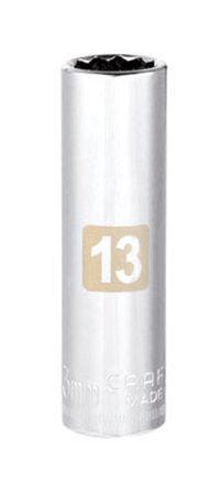 Craftsman 13 Alloy Steel Deep Socket 3/8 in. Drive in. drive
