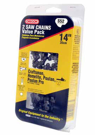 Oregon Value Pack Chainsaw Chain 52 links 14 in. For Craftsman Homelite Poulan 91 Low Profile