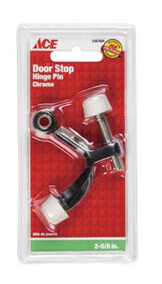 Ace Metal Hinge Mount Door Stop 2-5/8 in. L Chrome Black
