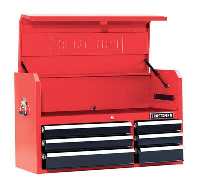 Craftsman 6 drawer Top Tool Chest 24-1/2 in. H x 41 in. W x 16 in. D