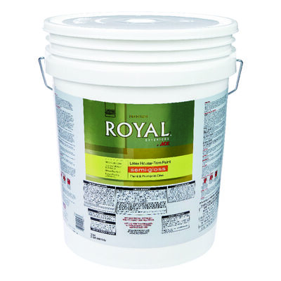 Ace Royal Acrylic Latex House & Trim Paint & Primer Semi-Gloss 5 gal. Ultra White