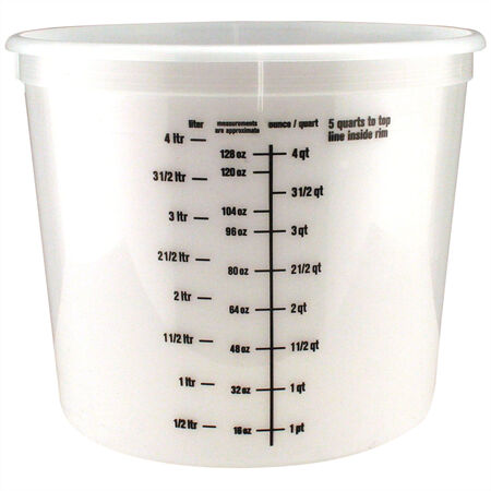 Ace Clear 5 qt. Plastic Bucket