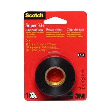 Scotch 3/4 in. W x 450 in. L Vinyl Electrical Tape Black