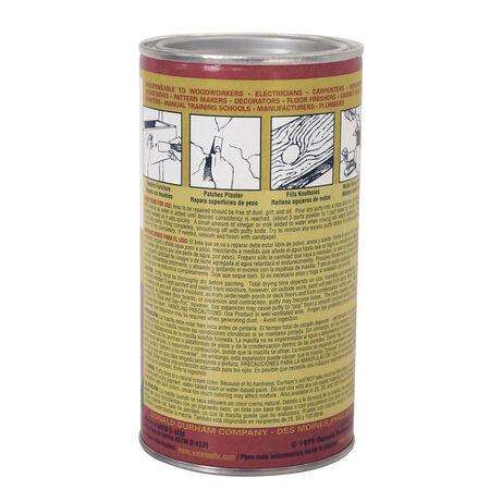 Durhams Rock Hard Natural Cream Water Putty 16 oz.