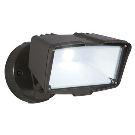 All-Pro Bronze Metal Outdoor Security Light LED 120 volts 28 watts