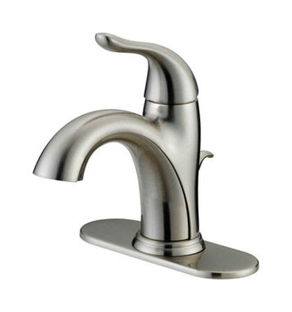 OakBrook Pacifica Single Handle Lavatory Pop-Up Faucet 4 in. Brushed Nickel