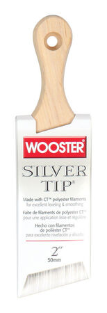 Wooster Silver Tip 2 in. W Angle Polyester Paint Brush