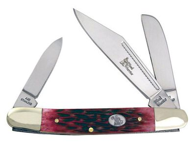 Frost Cutlery Wrangler Stainless Steel Pocket Knife 4 in. L Red