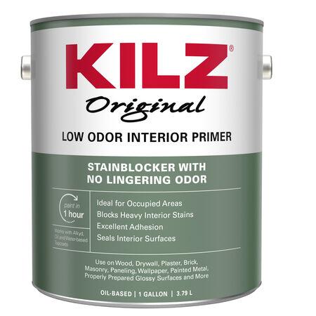 KILZ Original White Flat Oil-Based Primer and Sealer 1 gal.