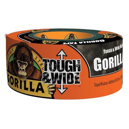 Gorilla Tough & Wide Duct Tape 2.88 in. W x 30 yd. L Black