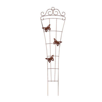 Panacea Brown Steel Trellis Ground Butterfly 72 in. H