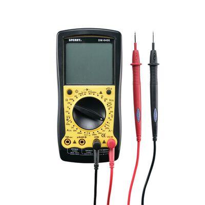 Sperry LCD Multimeter 2/20/200/750 VAC 200mV/2/20/200/1000 VDC Black/Yellow