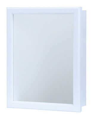 Continental Cabinets Medicine Cabinet Mirrored Swing Door 19-1/4 in. x 15-1/4 in. x 5 in. White