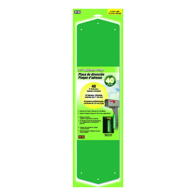 Hy-Ko 3 in. Aluminum Address Kit Horizontal and Vertical Green