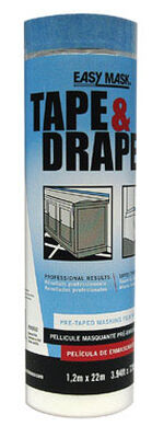 Easy Mask Heavy Weight Plastic Drop Cloth 3.94 ft. W x 72 ft. L x 0.5 mil