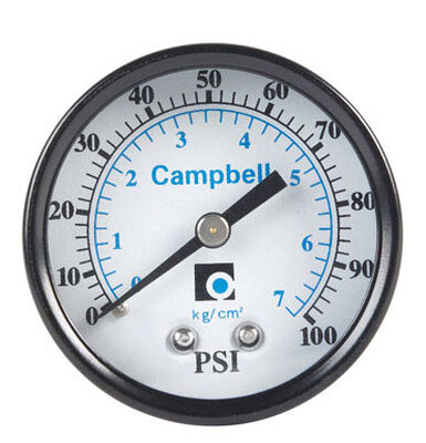 Campbell 2 in. 0 psi 100 psi Pressure Gauge