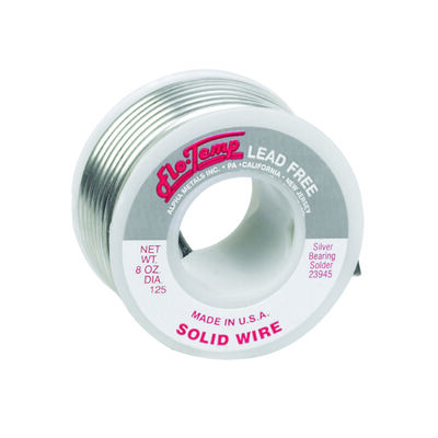 Alpha Fry 8 oz. For Plumbing Solid Wire Solder Silver Bearing Alloy Lead Free