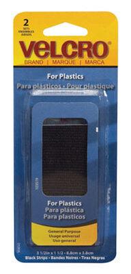 Velcro 3-1/2 in. L x 1-1/2 in. W Hook and Loop Fastener 2 pk