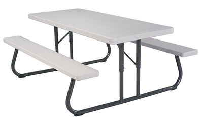 Lifetime Folding Picnic Table Grey