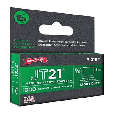 Arrow JT21 Wide Light Duty Staples Gray 5/16 in. L