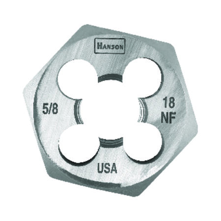 Irwin Hanson High Carbon Steel 5/8 in.-18NF SAE Hexagon Die 1