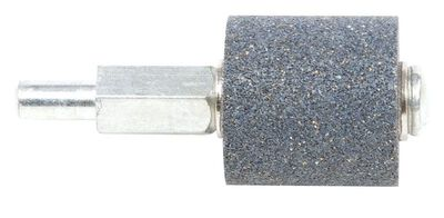 Forney 1 in. Dia. x 1 in. Aluminum Oxide 60 Grit Mounted Grinding Wheel Cylinder