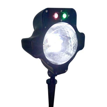 Night Stars Snowfall LED Laser Light White 1 lights
