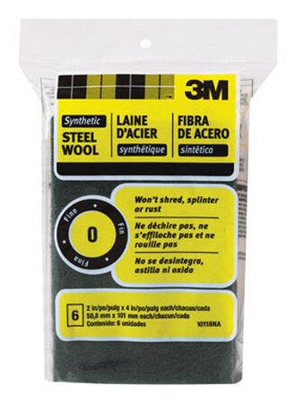 3M 1-1/2 in. W x 4 in. L Fine 0 Steel Wool