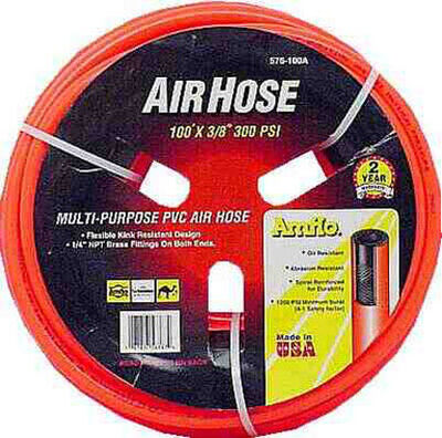 Amflo PVC Air Hose 1/4 in. x 100 ft. L 300 psi