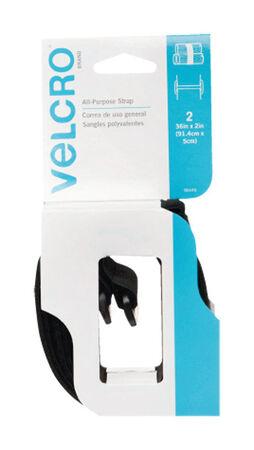 Velcro 36 in. L x 2 in. W Strap 2 pk