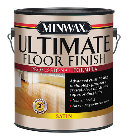 Minwax Indoor Clear Satin Ultimate Floor Finish 1 gal.