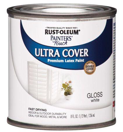 Rust-Oleum Ultra Cover Interior/Exterior Premium Latex Paint White Gloss 8 oz.