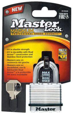 Master Lock 1-9/16 in. H x 1-3/4 in. W x 1-3/4 in. L Steel Dual Ball Bearing Locking Padlock 1 p