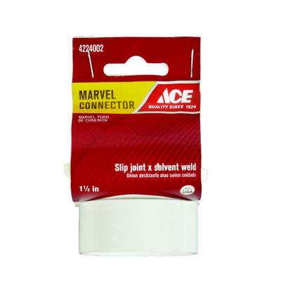 Ace 1-1/2 in. Dia. Polypropylene Marvel Connector