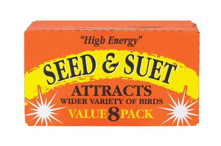 C & S Products High Energy Seed & Suet Beef Suet Millet 8/Pack