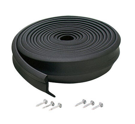 M-D Building Products Garage Door Rubber 16 ft. L x 1 in. Door Bottom Black