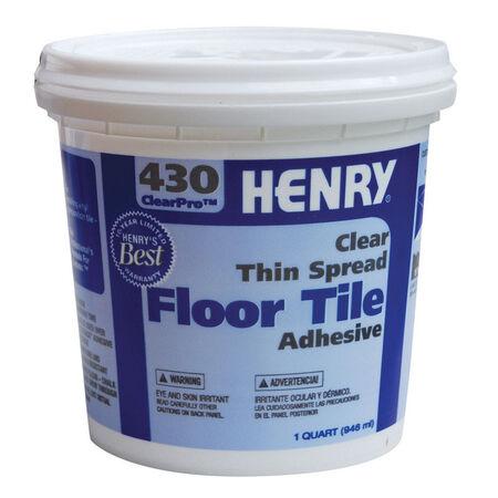 Henry 430 ClearPro Floor Tile Adhesive 1 qt.