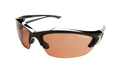 Edge Eyewear Multi-Purpose Safety Glasses Antifog Polarized Copper Lens Black Frame Bulk