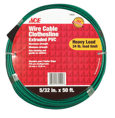 Ace 50 ft. L Green PVC Wire Cable Clothesline