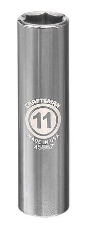 Craftsman 11 mm x 3/8 in. drive Metric 6 Point Deep Socket 1 pc.